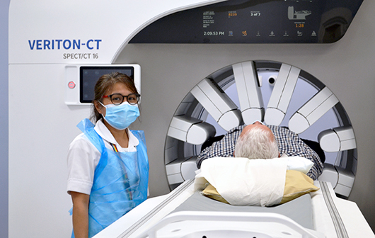 Gamma Camera with patient