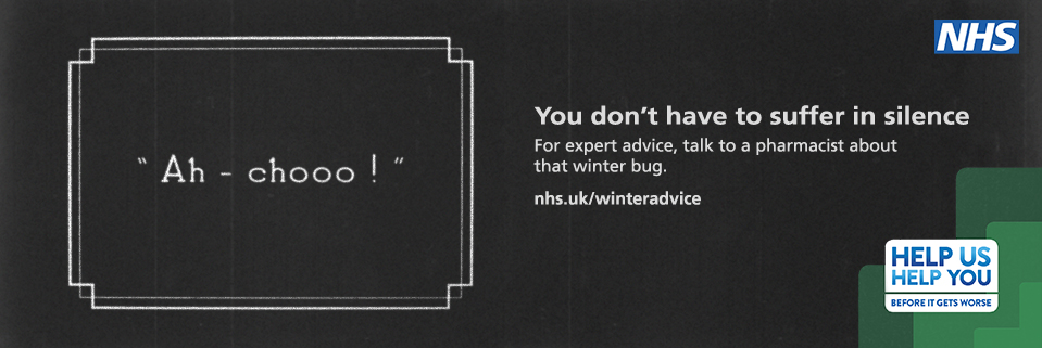 For expert advice, talk to a pharmacist about that winter bug